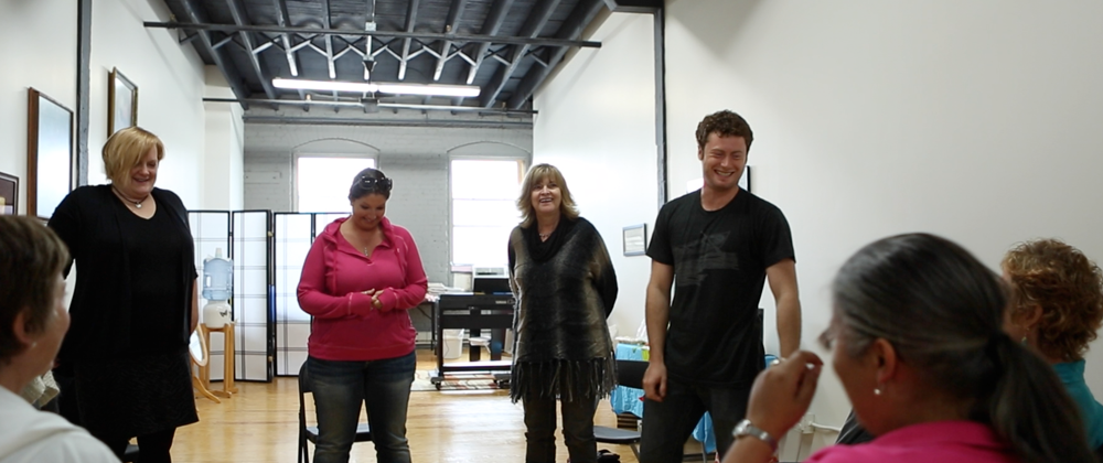 singers at workshop
